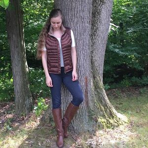 Puff Vest Chocolate Brown Goose Down